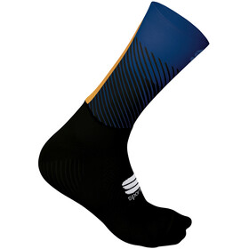 Sportful Evo Chaussettes Homme, black blue twilight gold